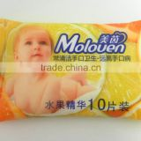 oem baby wet wipes for private label