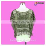 wholesale fashion embroidered ladies crochet Women Vintage sexy lady tube tops for dress