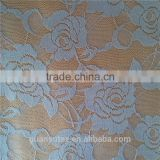 best selling george high quality spandex nylon lycra lace fabric in grey for curtain