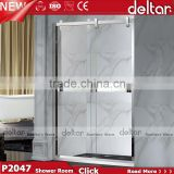 silvery Frame tempered glass shower door shower cabin price tempered glass cost per square foot / shower enclosure cubicle