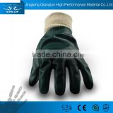 QL Fully PVC Original Brand pvc rubber coated cotton glove