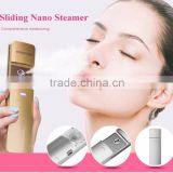 Electric nano ion platinium ozone facial beauty steamer sliding for anti aging