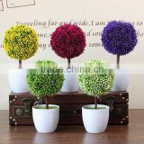 artificial small potted plant Baby Tree Potted Artificial Plastic Plants Lifelike grass Home Garden Decor