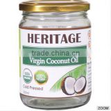 Good Quality Extra Virgin Coconut Oil / Cold Pressed / Organic - 500 ml Wide Mouth Glass Jar