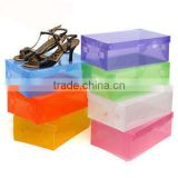 Hot Selling Transparent Plastic Flip-open cover Drawer Shoes Box/ Storage Box (BLWS1027)
