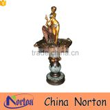 Wholesale garden decor large bronze nude women fountain NTBF-L476A
