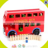 wholesale London wooden double decker bus toy funny kids wooden double decker bus toy best double decker bus toy W04A161