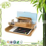 Aonong Customizable Bamboo Desktop Organizer with Trays
