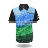 2017 new wholesale china 100% polyester bowling golf shirts dri fit polo for men