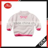 2017 thick cute long sleeve wool handmade sweater design for baby girl with high quality