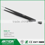 Wholesale ! E-cig accessories Hand tool heat resistant ESD stainless steel tweezers ESD-11