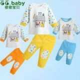2015New Cartoon Baby Sets Boy Girl Spring Autumn Newborn Clothing Sets Baby T-shirt Pants Suit For Infant Baby Clothes