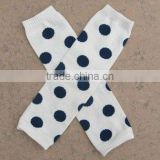 2014 baby leg warmers dot pattern white and black