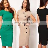 2017 New arrive XINYUAN Wholesale Fashion OL Women Ladies Office Dress Clothes Knee-length Bodycon Slim Pencil Party Dress