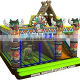 2015 new design Indian totem inflatable kids playing combo for sale