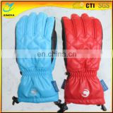 2016 Custom Logo Band Ski Glove Warm Keeping Ski Glove