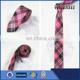 Pink British Plaid Design College Style Girls Tie