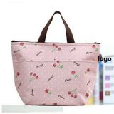 tote handle lunch bag cooler bag with printed fabric