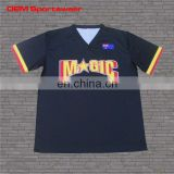 Full sublimation moisture wicking plain black short sleeve t shirts