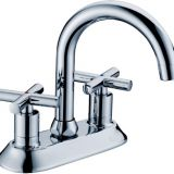Double Handle Brass Sink  Kitchen Faucet