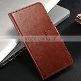 2014 Wholesale price high quality leather wallet case for htc one m 7 , leather case for htc one m7
