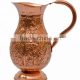 INDIAN COPPER JUG WATER STEEL JUG SAGA BEST WATER JUG DIMPLED WATER PITCHER FROM INDIA LOWEST PRICE JUG