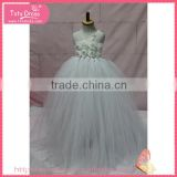 Grey color Nice angel kids formal dress for baby girl with high quality for sell