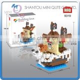 Mini Qute HIQ Anime One piece Thousand Sunny Going Merry pirate ship plastic building cartoon model educational toy NO.9319