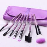 7pcs Professional Makeup Brushes Rare Travel Edition Set Cosmetic Brushes Kit with Cylinder Makeup Box