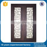 Best Selling And Wrought Iron Works Wood Entry Doors
