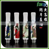 3X original 20 china style Stainless steel + ceramic 61mm long drip tips 510