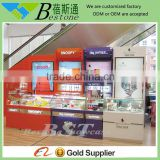 shopping mall wood acrylic watch display showcase counter furniture