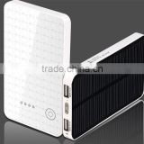 Hot selling solar charger for backpack for travel 6000mA power capacitor bank
