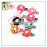 Lovely girls hair flower, children chiffon flower hair clips, baby hair pins with fabric flower