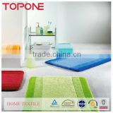Fashion New zhejiang products anti-slip colorful bathroom rug set
