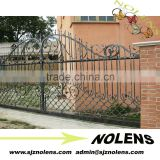 decorative flower iron main gate design /forged wrought iron driveway modern iron gates desing