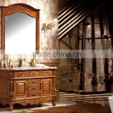 Luxury design floor mounted antique bathroom cabinet solid wood bathroom vanity