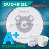 New products 2016 blank DVD+R dual layer high capacity dvd discs