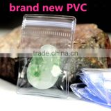 Top grade zip lock clear PVC anti-oxidation Jewelry bag/ jewelry packaging PVC oxidation resistance plastic bag with zipper