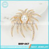 Fashion Ladies Safety Dubai Gold Plated Metal frame Brooch And Pins