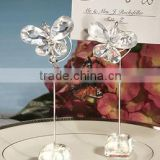 european style crystal white butterfly photo& Card holder Charming wedding decoration baby shower party supplies