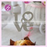 various color cardboard decoration cupcake topper CT-1