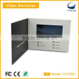 invitation lcd video greeting card customized high quality 7 inch lcd screen video book brochure greeting card VC7000