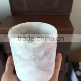 White Marble Candle Holders/ Stone Candle Holders/ Candle Jars