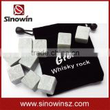 9pcs/pack Bottle Whisky Ice Stones Drinks Cooler Cubes Beer Rocks Granite vinho Pouch Wine Accessories