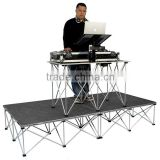 Easy set up aluminum portable stage podium for keyboard/music insturment                                                                         Quality Choice