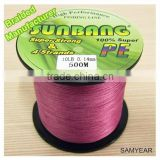 Sunbang Factory Wholesale Fishing Equipment Multifilament Fishing Line Braided                                                                         Quality Choice