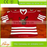 Micro polyester jersey fabric blackhawks ice hockey jerseys