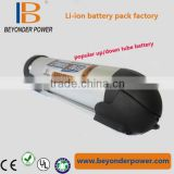 Hot sale lithium 36v 8Ah bottle battery pack for e-bike/electric bicycle/36v e-bike battery water bottle battery pack