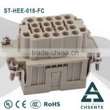 High quality HEE-018 pin Heavy Duty Industrial Connector for box header industrial sockets plugs